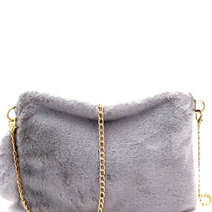 Faux-Fur Large Clutch