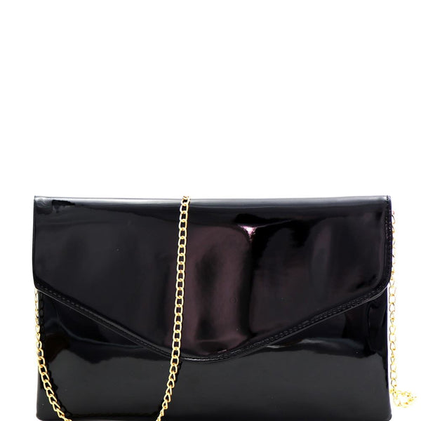 Neon Patent Envelope Clutch