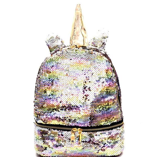 Unicorn Theme Flashy Sequin Novelty Backpack
