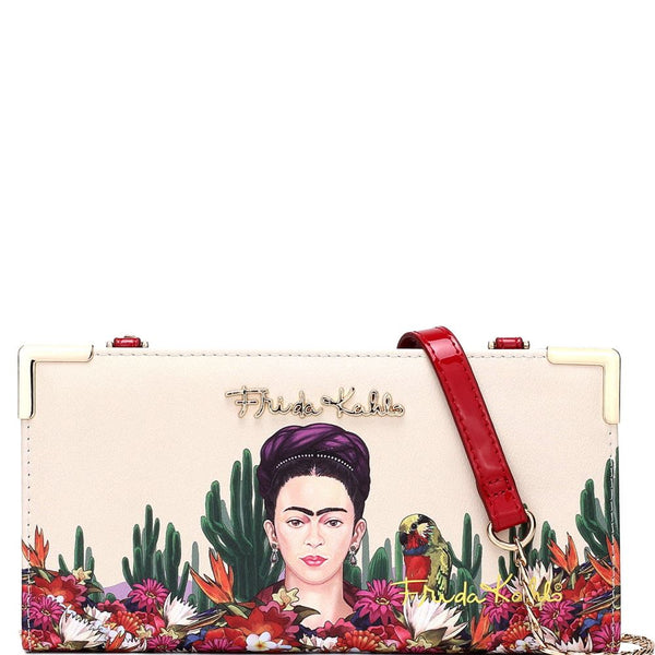 Authentic Frida Kahlo Cactus Series Wallet Cross Body