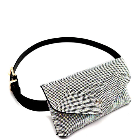 Rhinestone Embellished Bling Evening Fanny Pack