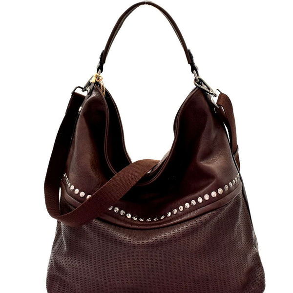 Stud Accent Perforated Rustic 2-Way Hobo