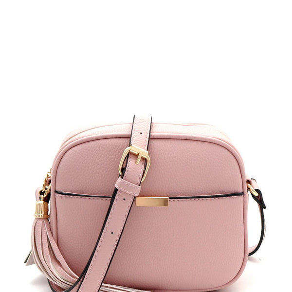 Tassel Accent Square CrossBody Camera Bag