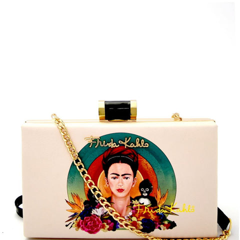 Authentic Frida Kahlo with Monkeys Frame Hard Clutch