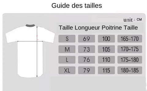 guide taille maillot