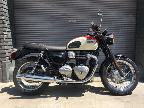 2018 Triumph T100 - Orange/White