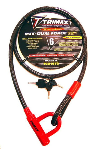 Trimax Max-Dual Force Cable Lock 72""
