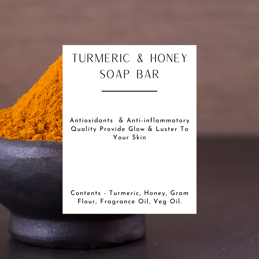 Handcrafted Natural Turmeric & Honey Soap Bar
