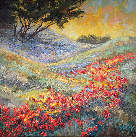 April Rhythms II (Texas Hill Country - Bluebonnets Indian Paintbrush) - Artistic Transfer, LLC