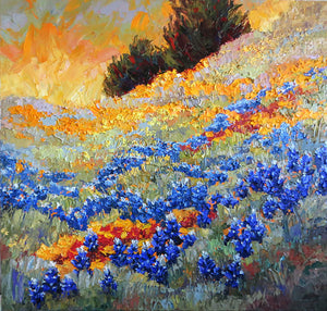 April Rhythms (bluebonnets) - Artistic Transfer, LLC