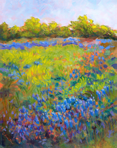 Spring Bluebonnets in the Hill Country - Artistic Transfer, LLC