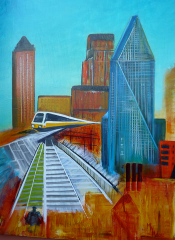 Dallas Cityscape - Artistic Transfer, LLC