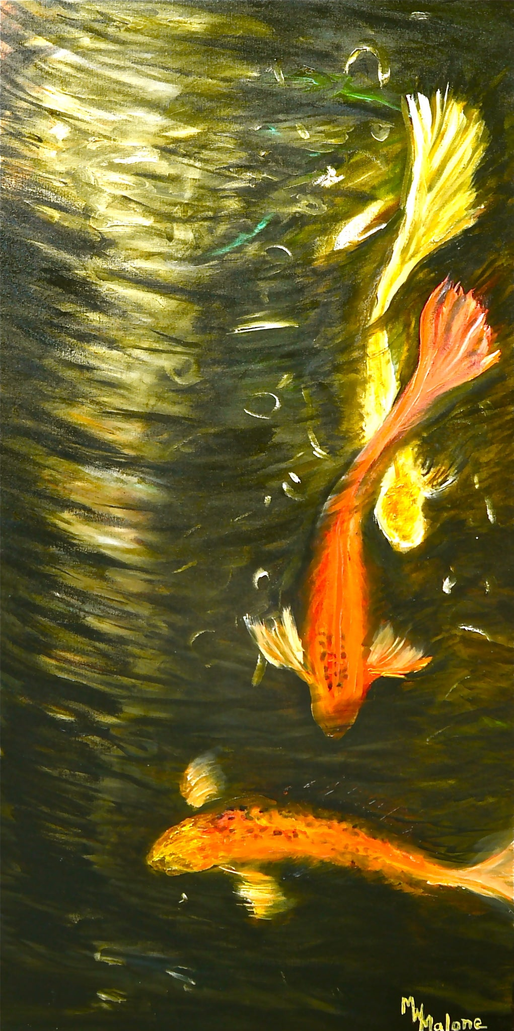 Descending Koi - Artistic Transfer, LLC