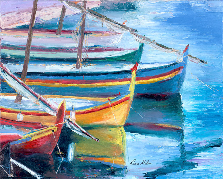Fishing Boat Reflections - Artistic Transfer, LLC