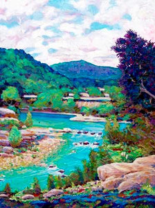 Hill Country River Scene - Artistic Transfer, LLC