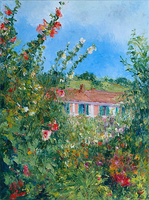 Hollyhocks Tower Over Monet's House - Artistic Transfer, LLC