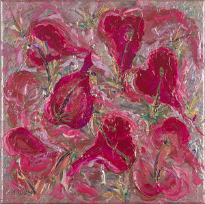 Lilies and Hearts by Patricia Wilson - Artistic Transfer, LLC