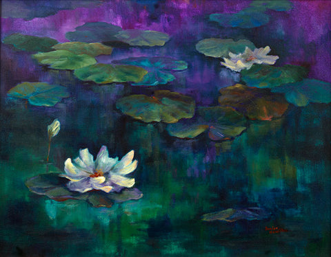 Lillies in Blue by Janice Hamilton - Artistic Transfer, LLC