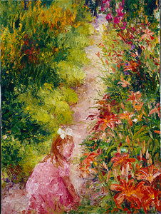 Little Girl Visiting Monet - Artistic Transfer, LLC