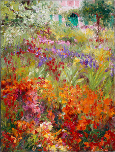 Monet's Fiery Orange Garden - Artistic Transfer, LLC