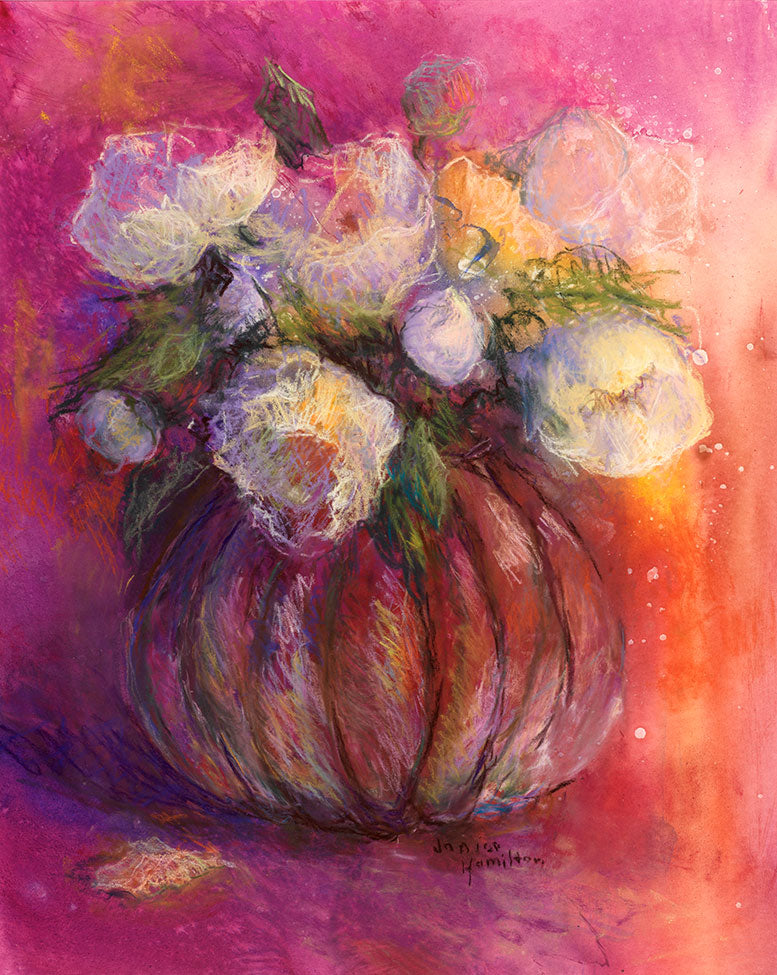 Peonies in Glass - Artistic Transfer, LLC