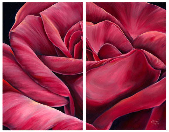 Pink  Tenderness  - Diptych