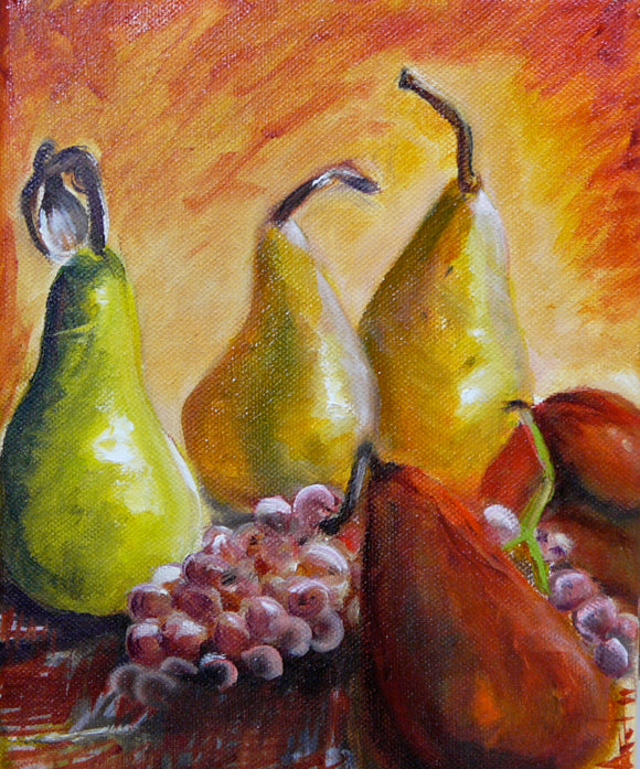 Small Pears and Grapes