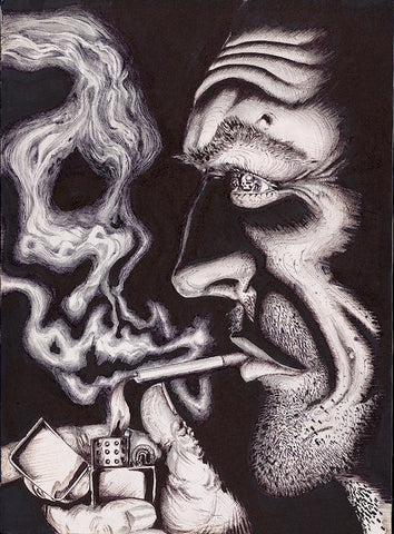 Smoke Skull - Artistic Transfer, LLC