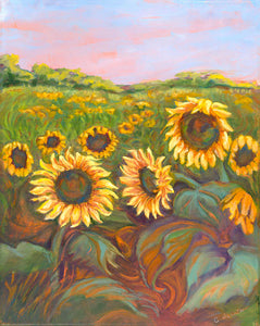 Summer Sunflowers in West Texas - Artistic Transfer, LLC