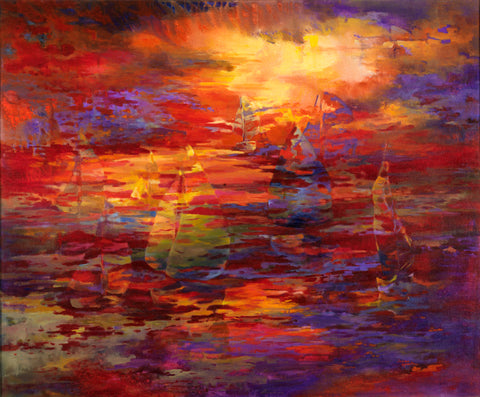 Sunset Sail - Artistic Transfer, LLC