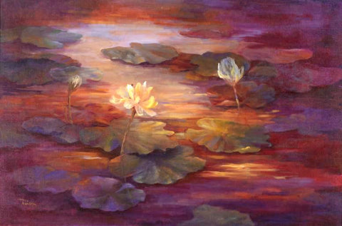 Sunset on the Lily Pond - Artistic Transfer, LLC