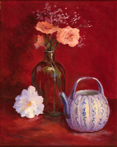 Teapot in Red - Artistic Transfer, LLC