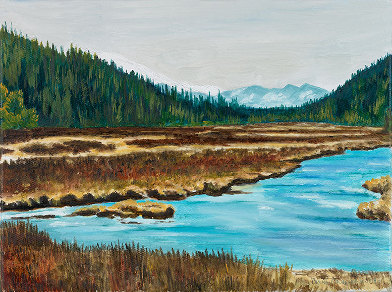 The Lewis River - Yellowstone by Beverly Parsons White - Artistic Transfer, LLC