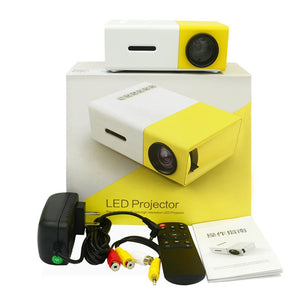 Mini proyector, HD y soporta Full HD, LED, Portátil