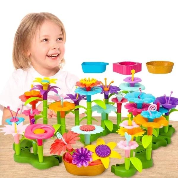 BUILD A GARDEN FLOWER BUILDING STEM TOYS SET FOR KIDS