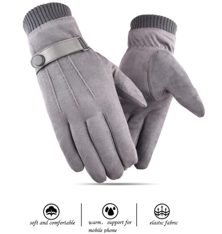 Warm Gloves Winter No-Pilling Gloves Touch Screen Outdoor Sports Riding Gloves