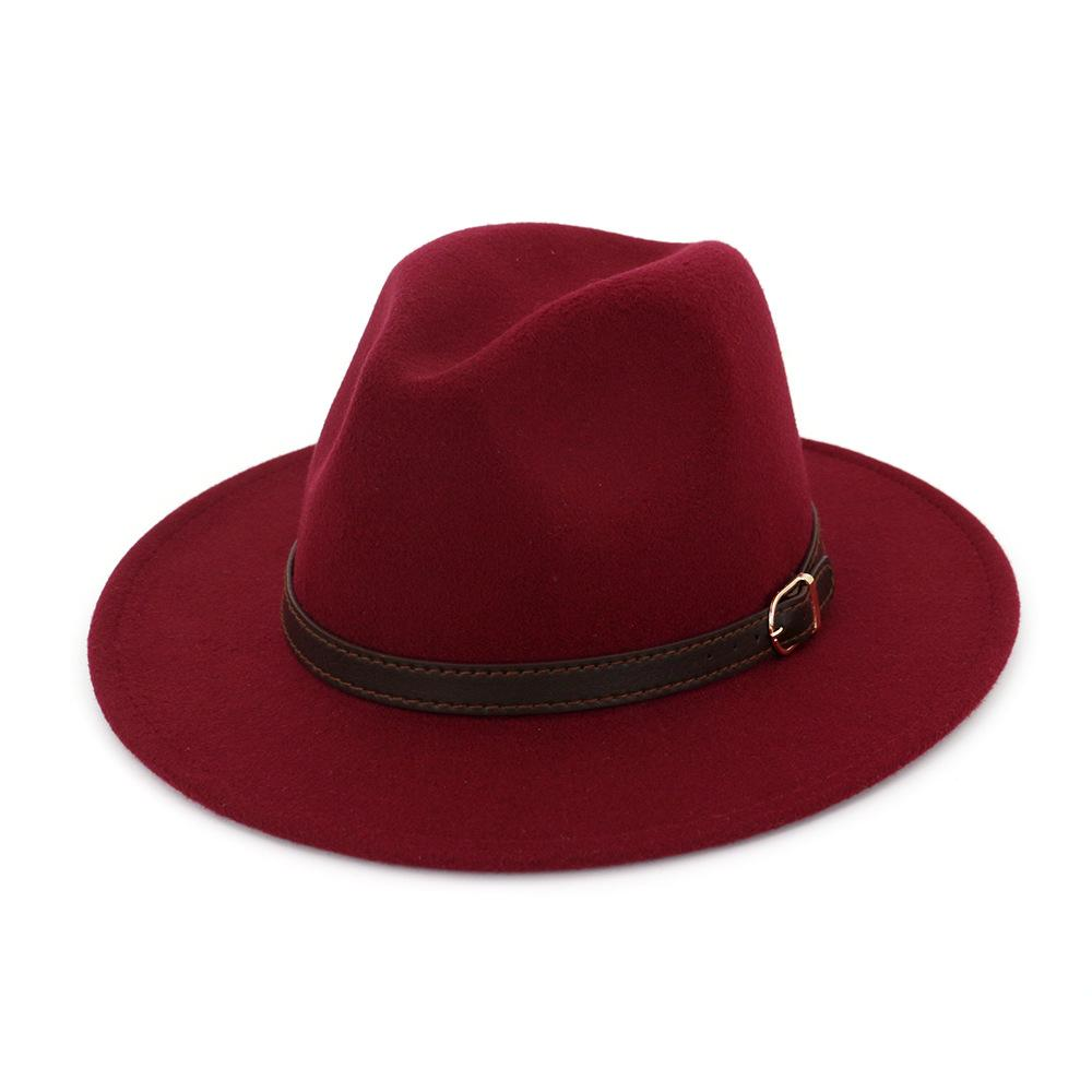 【50% OFF TODAY】Men & Women Vintage Wide Brim Fedora Hat with Belt Buckle