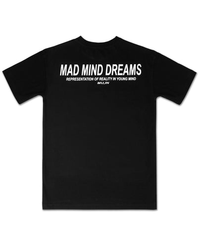 MMD Black tee ,all time collection by mad mind dreams indian streetwear brand