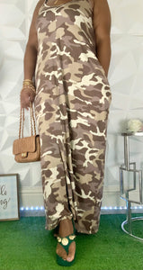 Camouflage Maxi Dress