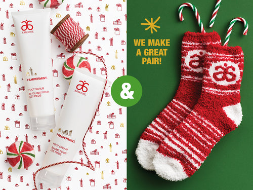Arbonne | Christmas Gift Ideas | Arbonne Pampermint Foot Care Gift Set