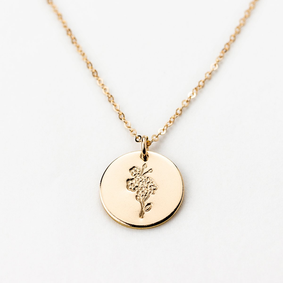 September Forget Me Not Necklace