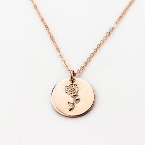 January Carnation Necklace