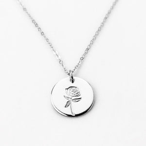 November Peony Necklace