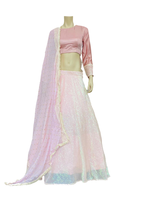 Gorgeous Baby Pink Sequence Lehenga Choli - Jyotika Patel Designs
