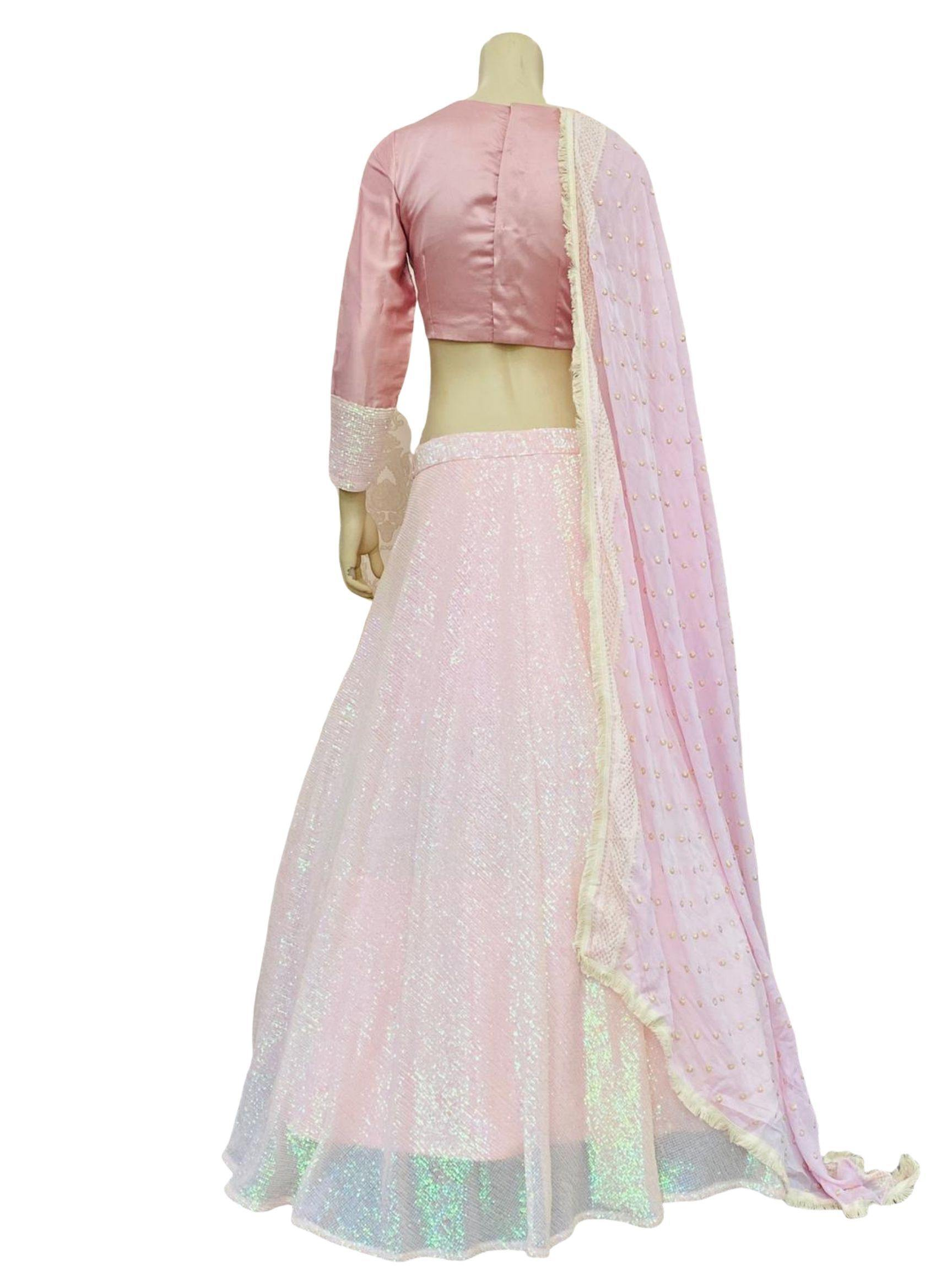 Gorgeous Baby Pink Sequence Lehenga Choli