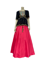 Load image into Gallery viewer, Pink and black Sharara Suits - Jyotika Patel Designs