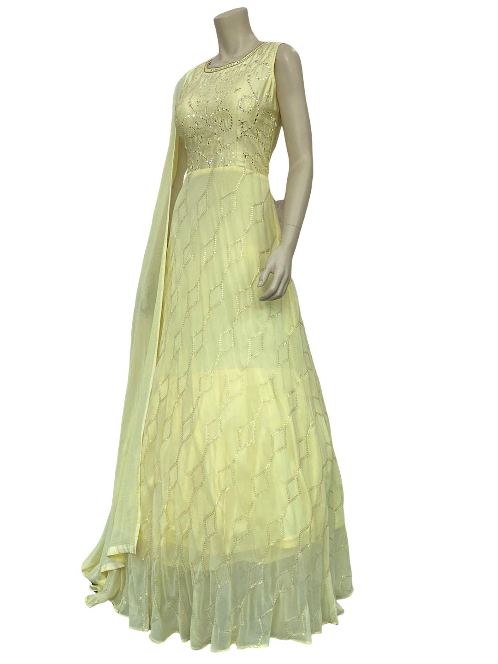Lemon Yellow Anarkali Suit