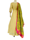 Gold color Anarkali Gown