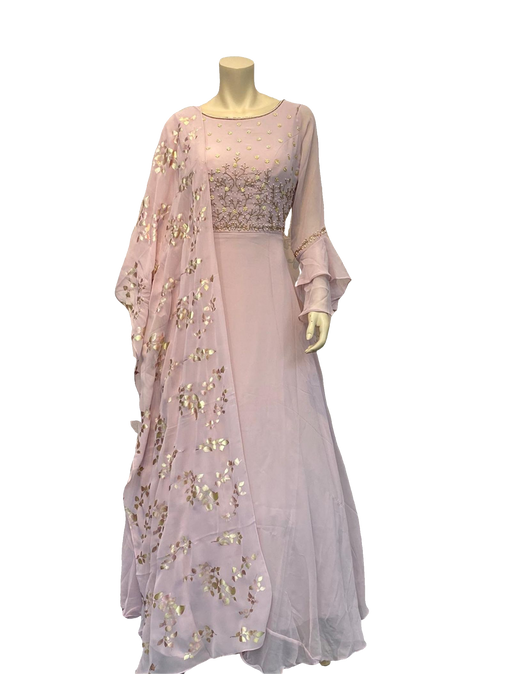 Light Peach Color Anarkali Gown - Jyotika Patel Designs