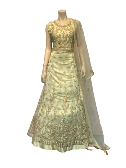 Full Golden Anarkali Gown